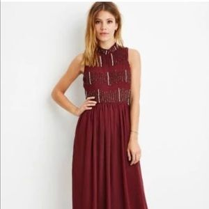 Forever 21 Embellished Maxi Dress